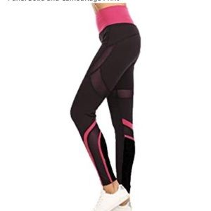 ITCF | Mesh Yoga Legging Rose pants High Waisted